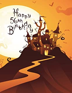 Happy 56th Birthday: Discreet Internet Website Password Organizer, Haunted House Themed Birthday Gifts for 56 Year Old Men...