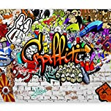 murando - Fototapete 300x210 cm - Vlies Tapete - Moderne Wanddeko - Design Tapete - Wandtapete - Wand Dekoration - Graffiti Streetart f-A-0348-a-b