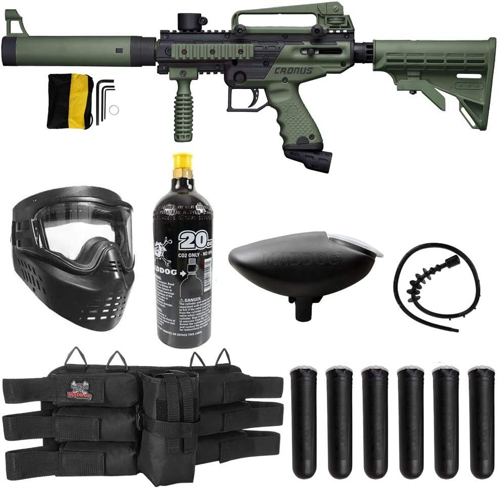 Maddog Tippmann Cronus Tactical Titanium Paintball Sniper in Action