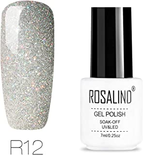 Rosalind Esmaltes permanentes de uv y led de uñas de gel Soak Off UV & LED Rainbow Color Series Gel Barniz