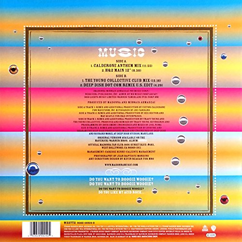 Music (Calderone)/Music (Hq2 Club Mix) [Vinyl Single] - 2