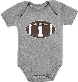 Tstars Gift for 1 Year Old Boy Football Baby Boy 1st Birthday Baby Bodysuit