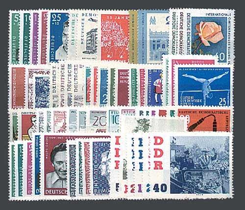 Goldhahn DDR Jahrgang 1961 postfrisch komplett Briefmarken für Sammler