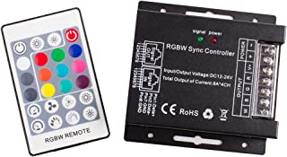 LEDUPDATES Heavy Duty RGBW LED LIGHT CONTROLLER with remote control 4 channel for RGB RGBW LED Light Strip Compatible with 12v 24v Power Supply LED Driver AC adapter