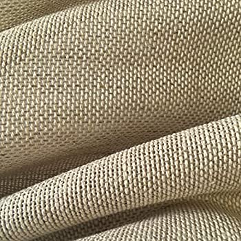 Tela por metros de cortina - Visillo - 40% lino, 60% algodón - Ancho 280 cm - Largo a elección de 50 en 50 cm | Visillo tejido natural, beige: Amazon.es: Hogar