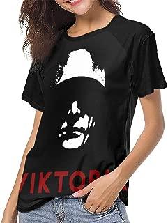 JiuLofg Marduk - Viktoria Sexy Fashion Womans Baseball Raglan Short Sleeves Tshirts - Size£º