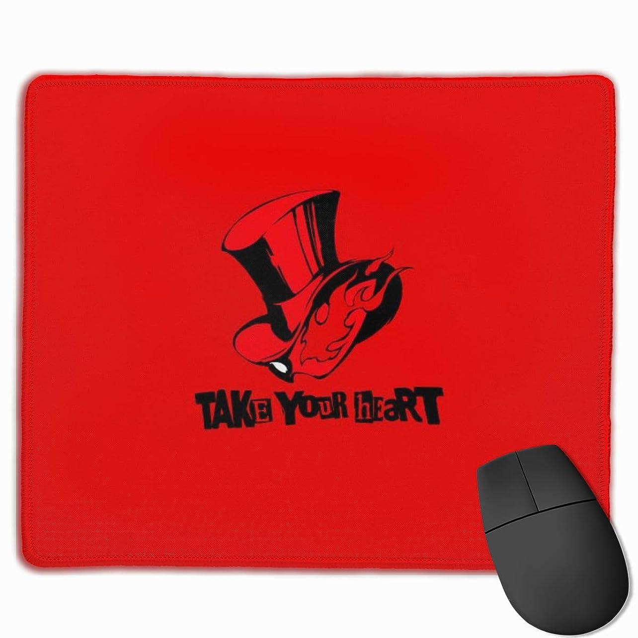 廃棄する上回る解き明かすP5ペルソナ マウスパッド 多用途の 耐久性が良い ゲーム オフィス用滑り止めラバー厚手マット 25x30x0.3cm