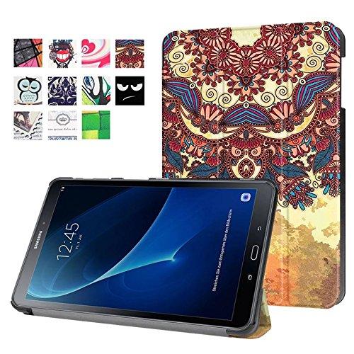 Lobwerk Hülle für Samsung Galaxy Tab A 10.1 SM-T580 T585 Zoll Schutzhülle Etui Tablet Tasche Smart Cover T580N T585N Neu