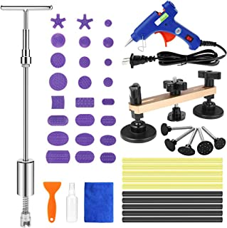 Henergy Auto Body Paintless Dent Repair Removal Tools Kit Glue Gun Dent Lifter Bridge Puller Set for Car Hail Damage and Door Dings Remover
