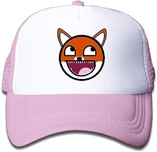 Duola Laugh Fox Smiley Emoji Boy's Hat Running Cap Lightweight Mesh Flexfit SkyBlue