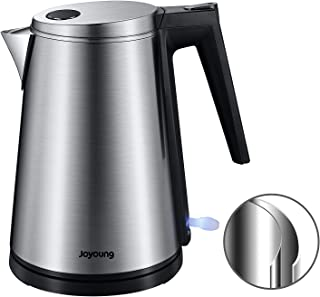 Sponsored Ad - JOYOUNG Electric Kettle Stainless Steel Kettle Double Layer Hot Water Kettle Electric BPA-free Electric Wat...