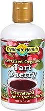 Dynamic Health Certified Organic Tart Cherry | unsweetened 100% Juice Concentrate | Vegan, Gluten-Free, Bpa-Free | 32oz, 32 Servings