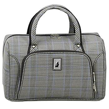 LONDON FOG Knightsbridge II 17-Inch Cabin Bag Grey Sapphire Plaid