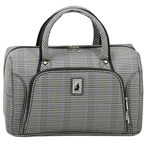 London Fog Knightsbridge II 17' Cabin Bag, Grey Sapphire Plaid