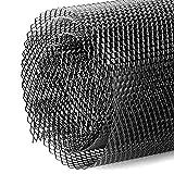 Ajuste de malla de nido de abeja Malla de red de rejilla central, Hoja de malla de rejilla de coche Rejilla de malla de parachoques, Universal 3x6mm Aleación de aluminio Agujero de malla de parrilla