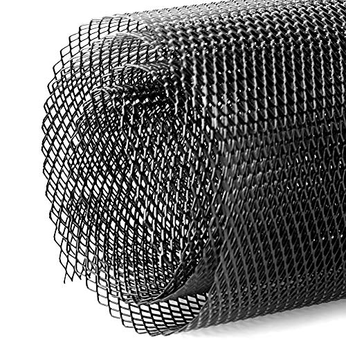 Stoßstange Meshed Trim Honeycomb Mesh Center Grille Netz Mesh, Universal Car Grille Mesh Sheet 3x6mm, Aluminiumlegierung Rhombic Grill Mesh Loch, Schwarz
