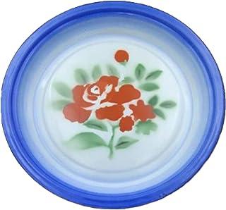 LXHDKDT Disque en émail nostalgique à l'ancienne, Assiette à thé en émail, Assiette de Fruits en émail, Style Chinois