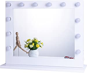 Chende Vanity Mirror with Light Hollywood Makeup Mirror Wall Mounted Lighted Mirror