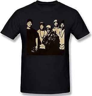 Donaldjchisholm Men Awesome 100% Cotton Short Sleeve NWA Straight Outta Compton Black T Shirt