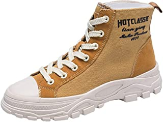 Martin Boots Women Canvas Shoes Autumn Women Ankle Boots Female Sneakers High Top,Brown,38