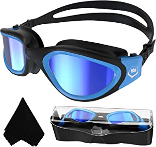 Volwassen zwembril,Gepolariseerde Open Water Goggles Zwemmen Anti Fog UV Bescherming Geen Lekkage Clear Vision Gemakkelijk...