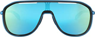 Oakley Women's Sunglasses Rectangular, Outpace - Polished Black/Sapphire/Prizmsapphire