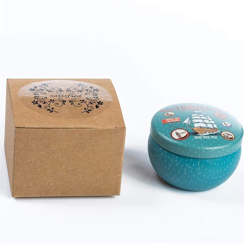 釈義作者壊れたGuomao 漫画のブリキの箱の香料入りの蝋燭の家のなだめるような睡眠、新しく、快適な臭いがする蝋燭 (色 : Lavender)