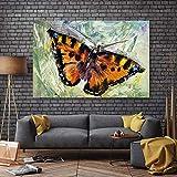 Póster de lienzo póster arte cuadro de pared ptintos y carteles abstractos hermosas impresiones de decoración de mariposas en lienzo pintura 60x80 cm sin marco