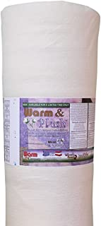WARM COMPANY Warm and Plush Cotton Batting by The Yard, Queen