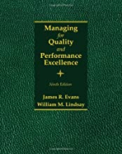 By James R. Evans - Managing for Quality and Performance Excellence (9th Edition) (2013-01-15) [Hardcover]