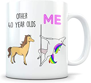 Funny 40th Birthday Gift for Women and Men - 1979 Turning 40 Years Old Happy Bday Coffee Mug - Gag Party Cup Idea for a Joke Celebration - Best Adult Birthday Presents