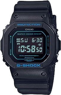 ساعة كاسيو للرجال، انالوج - رقمية بسوار راتنج DW-5600BBM-1