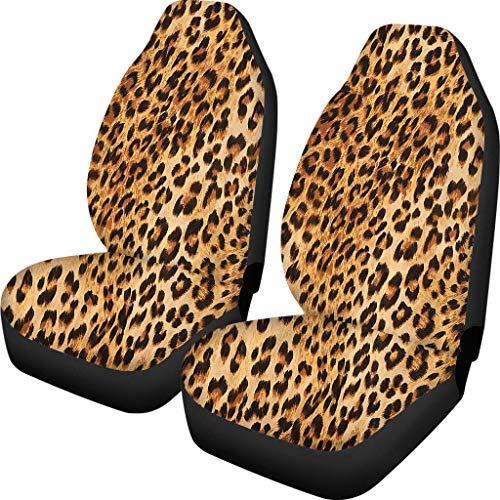 Polero Leopard Fundas de asiento de coche con estampado animal cubierta antideslizante transpirable vehículo protector accesorios para sedanes camiones mujeres regalo