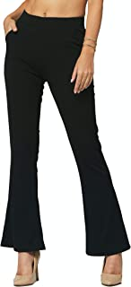 Premium Women's Stretch Dress Pants - Wear to Work - All Day Comfort - Solids and Pinstripes - Ponte Pants