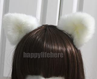 white bear ears headband