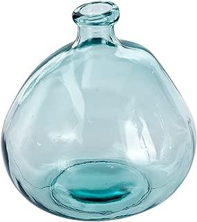 Mud Pie Nest Recycled Spanish Glass Shape Vase 9