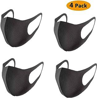 4 Pack Fashion Protetive Washable and Reusable Sponge Bandana for Women & Men - Black