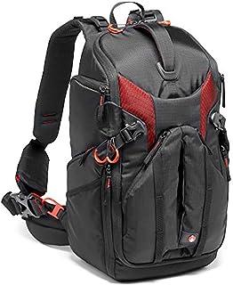 Mochila Profesional Manfrotto Pro Light 3N1-26 para Cámaras sin Espejo, DSLR, con Capacidad para 2 Cámaras y 5 Lentes, Bolsillo para Tablet de 10″, para Cámaras Canon C100 o Similares