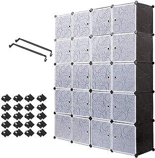 Meerveil Armario Portátil DIY, Armario Modular con 20 Cubos