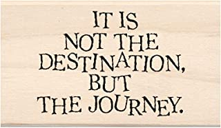 """Inkadinkado Destination Mounted Wooden Rubber Stamp for Card Making and Scrapbooking, 1pc, 3''L x 1.75''W x 1""""H"""