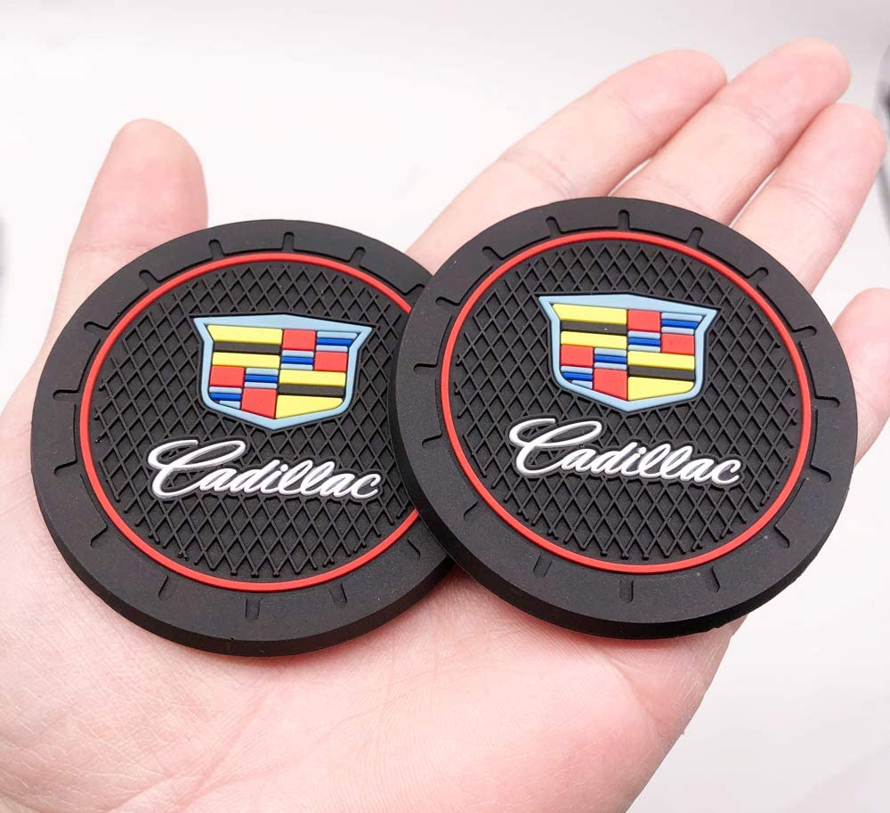 2Pcs 2.8 Inch Durable gift Anti Oklahoma City Mall Slip Mat Cup Cad Cadillac All for
