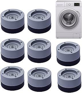 8 pièces Coussinets de pieds de machine à laver Antidérapant, Alldo Tampons anti-vibrations Pieds de réduction du bruit Ta...
