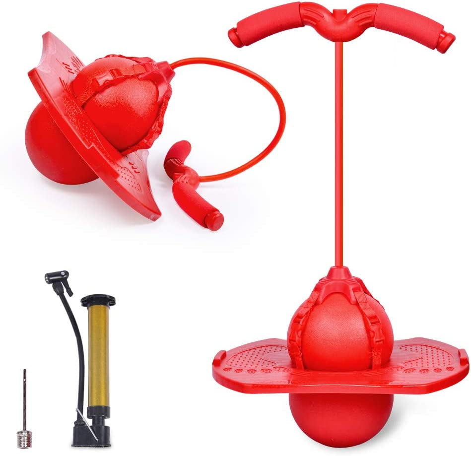 Genrics Pogo Bouncing Ball with Jump Handle and High Outlet ☆ Free Shipping quality Pump