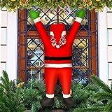 CestMall Decoración de Papá Noel, 42.51 '' x 19.68 '' Adornos navideños de Papá Noel para Adornos Colgantes para Interiores, Exteriores, Puertas de casa, Ventanas de Pared, escaleras de chimeneas
