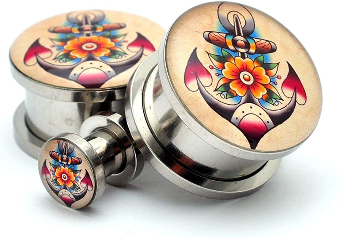 Screw On Traditional Anchor Picture Plugs - Sold As a Pair