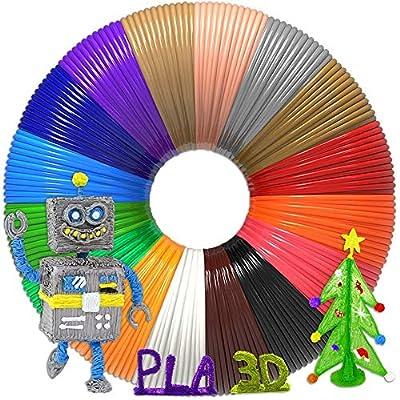 Aozzy 30 Colors 3D Pen Filament PLA Filament 1.75mm for 3D Pen 3D Printer Ink Each Color 5m/16 Feet Total 492 Feet 30 Colors