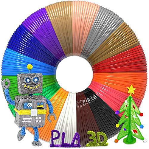 Aozzy 3D Stift Filament PLA 1.75mm 3D Stift Farben PLA für 3D Stiften und Druckern 30 Farben - 197'/Stück