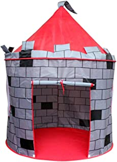 Gaorui Princess Castle Play Tent Kids Play House Large Indoor/Outdoor Tunnel Pop Up Toys for Baby Parent-Child Gift, Summer Shade Toy Play Tent - Conveniently Folds with a Carry Bag Gray