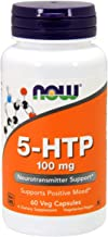 NOW Supplements, 5-HTP (5-hydroxytryptophan) 100 mg, Neurotransmitter Support*, 60 Veg Capsules