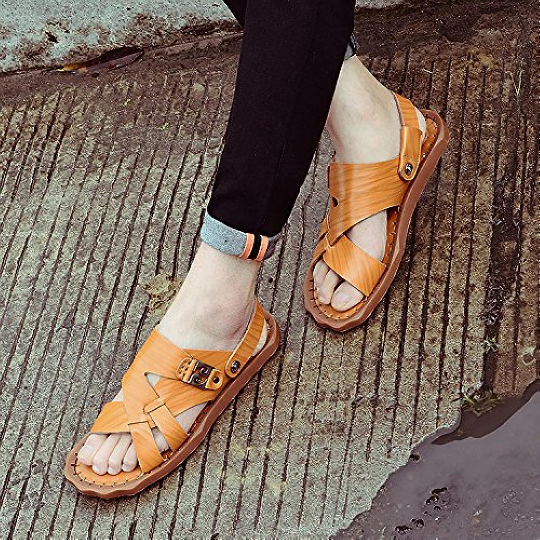 Leather Men's Sandals, Teenage Sandals, Men's shoes, Young Men's shoes
